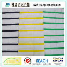 Yarn Dyed Silk Taffeta Fabric with Horizontal Band