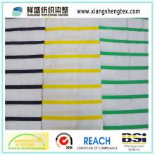 Tecido de tafetá de seda tingida de fios com faixa horizontal