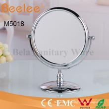 Miroir de loupe de maquillage rond double face de 8 pouces