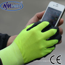 NMSAFETY nitrile touch screen use soft nitrile working gloves