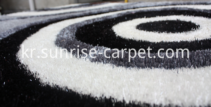Thick Polyester Shaggy Rug with 3D design