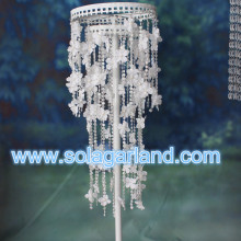 5M satijn bloem Crystal String kraal Garland bruiloft tabel Decor