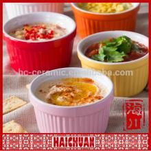 Keramik Bakeware Pet Schüssel Tableware Haustier Schüssel grün