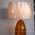 Antique Hotel Decorative Bronze Glass Bedside Table Lamp