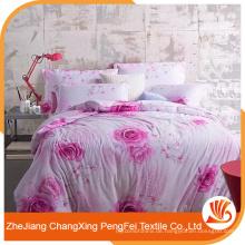Heißer Verkauf 100% Polyester moderne schöne Bettwäsche setzt Stoff