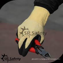 13G Устойчивая к истиранию пенная нитриловая рабочая перчатка / перчатки из арамидного волокна