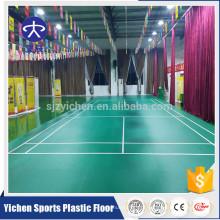 Material orgânico do pvc da largura de 1.42m nenhum revestimento interno da corte de badminton do formaldeído