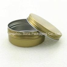 Frasco de alumínio dourado da pintura do frasco do revestimento do frasco 150ml