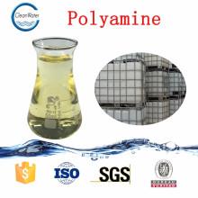 Resina de polímero catiônico para poliamina de tratamento de águas residuais de efluentes de tintura