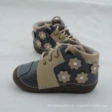 Cargadores cortos del cuero genuino del bebé recién nacido del invierno calza los zapatos