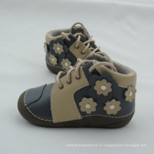 Hiver nouveau-né bébé cuir véritable bottes courtes bottes chaussures
