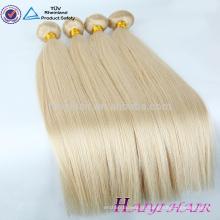 Двухместный нарисованные очень густые волосы Remy белые пучки человеческих волос