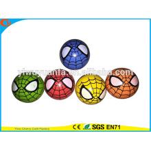 Alta calidad de goma de alta araña de colores saltar balón de juguete para niño