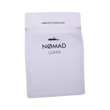 Bolsa blanca Bolsa de café Ziplock con puntada láser y fácil de rasgar
