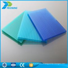 Garantie de 10 ans revêtement en serre en polycarbonate toit transparent en plastique feuille de panneau extérieur