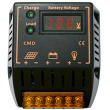Controlador del sistema de alimentación de la batería del regulador solar de PWM 12V 24V 10A con el voltímetro