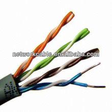 305m Cable UTP LAN Cat5e en Gris de Cobre Sólido con 24AWG, Chaqueta de PVC