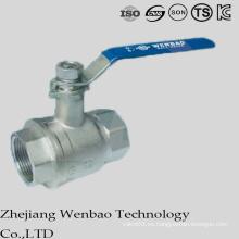 Válvula de bola flotante aislante de alta capacidad 2PC con la manija