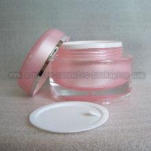 50 г розовый круглый форма косметической упаковки Jar