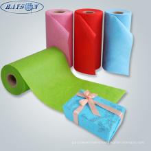 custom printing christmas nonwoven fabric xmas gift wrapping paper