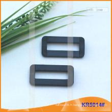 Boucles en plastique de taille intérieure 25mm, régulateur en plastique KR5014