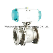 Pneumatic Ball Valve with Flange Ends