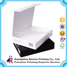 Логотип золото/серебро фольги Подгонянные коробки бумажного пакета печати