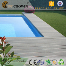 Wood plastic composite outside primary deck covering