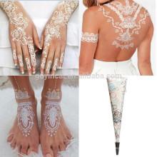 Tatouage faux de conception de mariée de mode, autocollant temporaire fait sur commande de tatouage pour le mariage