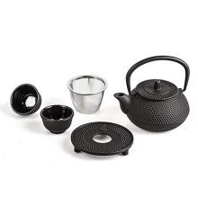 Cast Iron Teapot Set Black
