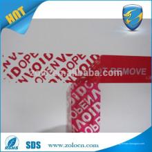 Transferência parcial vermelho Personalizado Uma vez use apenas adesivo de vedação de segurança