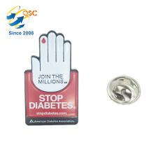 Wholesale Custom Plating Hands Palm Shape Lapel Pin Badge