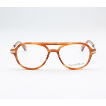 2018 affordable designer acetate yellow optical glasses frame for girls acetate spectacle frame