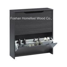 Wooden 2 Revolving Drawers Combi Shoe Cabinet (SC07)