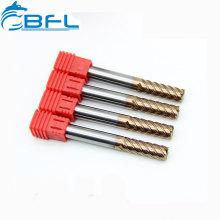 BFL Herramientas de fresado CNC Piezas de carburo sólido 6 flautas Acabado Fresas