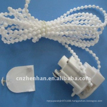 White color roman blind control unit with curtain chain & end cap,curtain accessory,roman shade parts