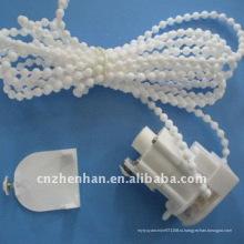 Блок управления жалюзи белого цвета с цепочкой занавеса и торцевой крышкой, аксессуар для штор, части римского оттенка