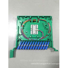 full loaded 12 port optical display tray for ODF Unit Box with pigtail and adapter