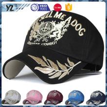 high quality caps and hats multicolor custom LOGO gold thread embroider design baseball cap man hat