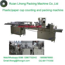 Lh-450 Single-Row Copa de plástico descartáveis Contando e Máquina de Embalagem