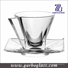 Crystal New Design Glass Cup et Saucer