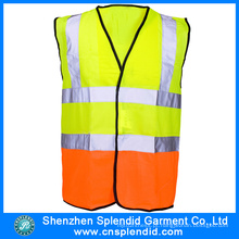 Venda Por Atacado Two Tone Segurança Multi Pocket Work Reflective Vest