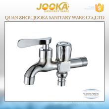 Hot sale popular chrome plated dual handle 2 way bibcock