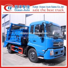 Dongfeng kingrun 8cbm capacidad de swing container camión de basura