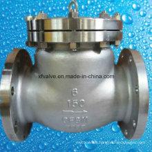 Robinet de retenue pivotant à extrémité de bride CF8m en acier inoxydable 150 lb