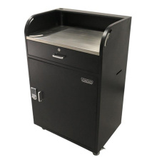 Multifunction Metal Reception Podium with Key Storage