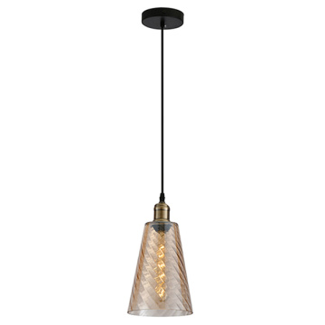 Lampe suspension moderne en verre