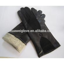 Großhandel billig gestrickte Wolle Futter Damen Schaffell Leder Wildleder Handschuhe