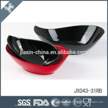 Porzellansnackschüssel JX-31R, weiße Porzellanschüssel, farbige Schüssel