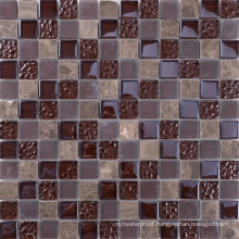 Australia Style Drawing Room Brown Mosaic Glass Tile Backsplash